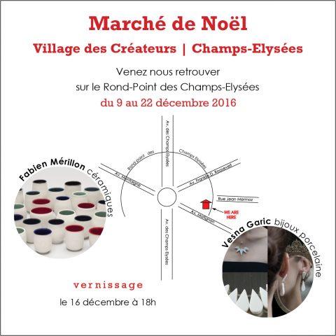 Marché de Noël Champs Elysées 2016