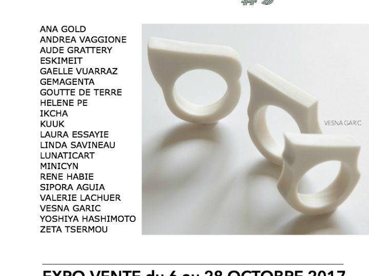 Exposition 200 bagues 20 créateurs | Goutte de Terre | du 6 au 28 octobre