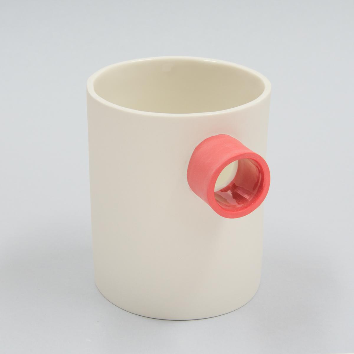 Carafe porcelaine bec rouge