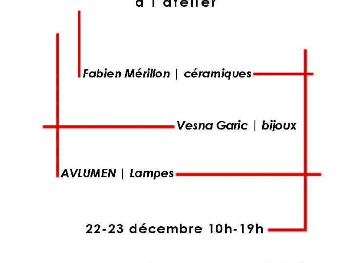 Vente de Noël à l'atelier | Paris | 22 et 23 décembre