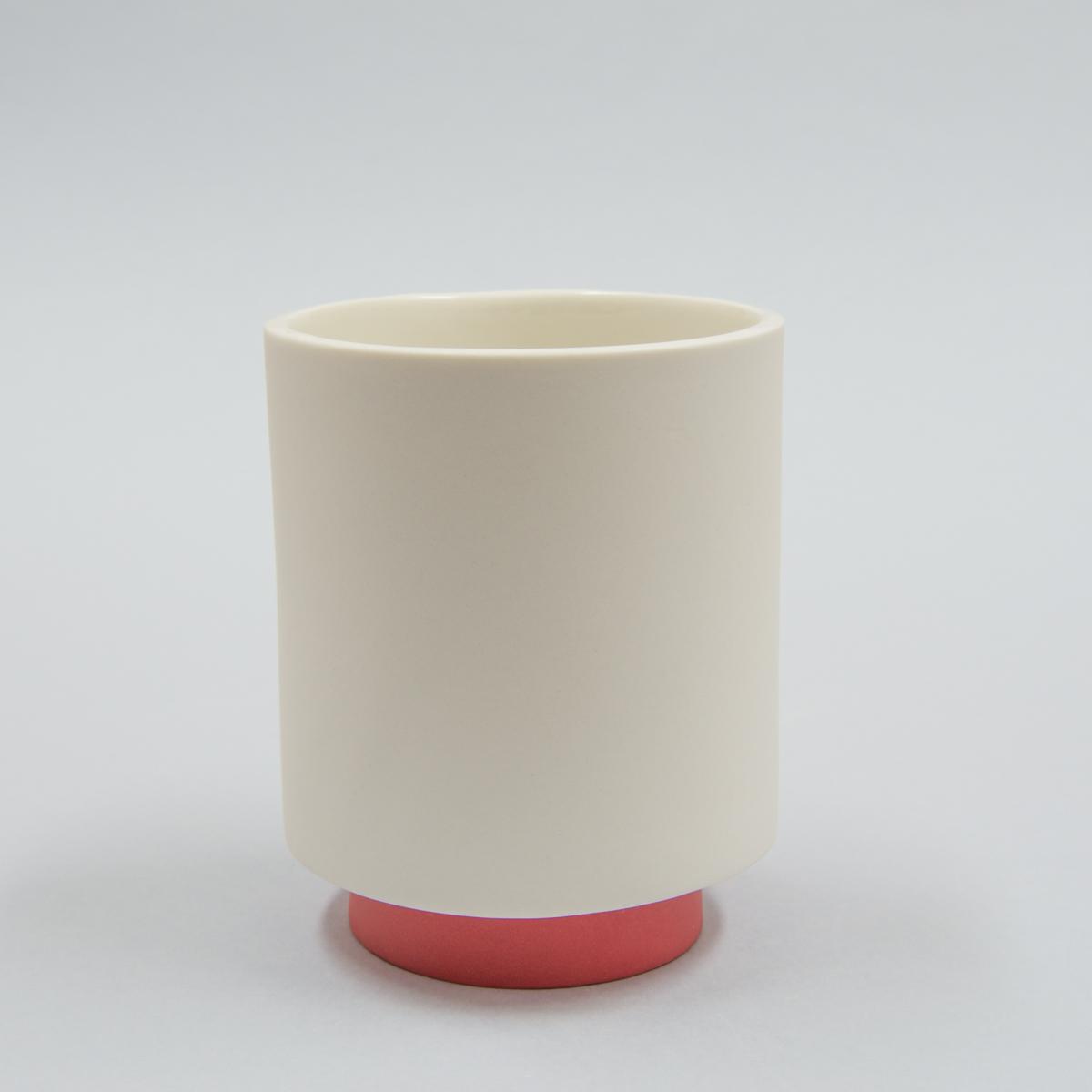 Mug porcelaine pied rouge
