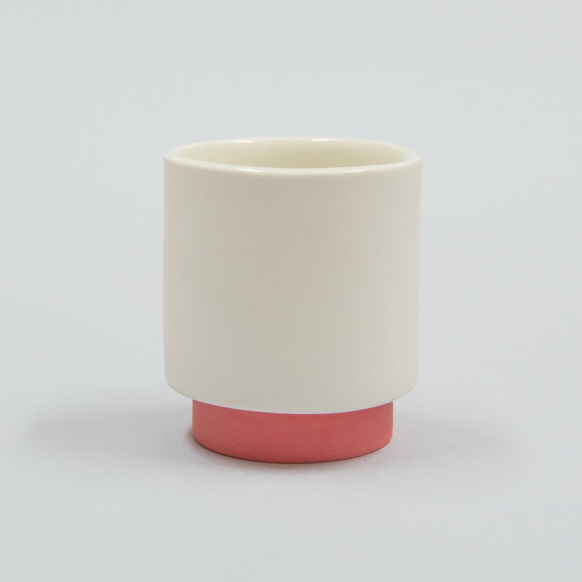 Tasse à café porcelaine rouge
