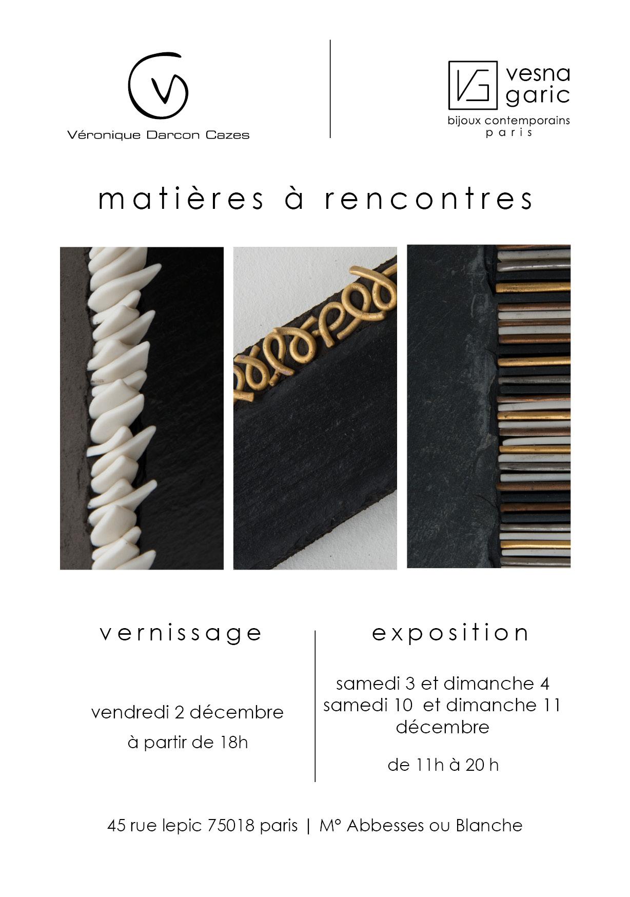 Exposition Matières à rencontres | 2016