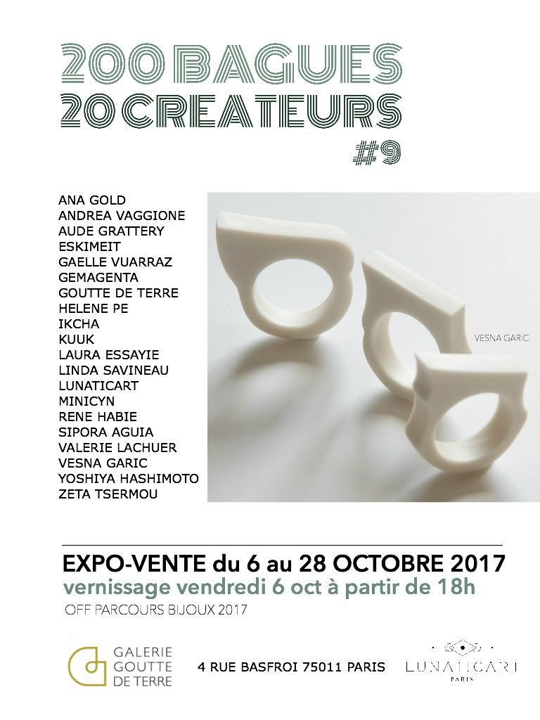 Exposition 200 bagues 20 Créateurs