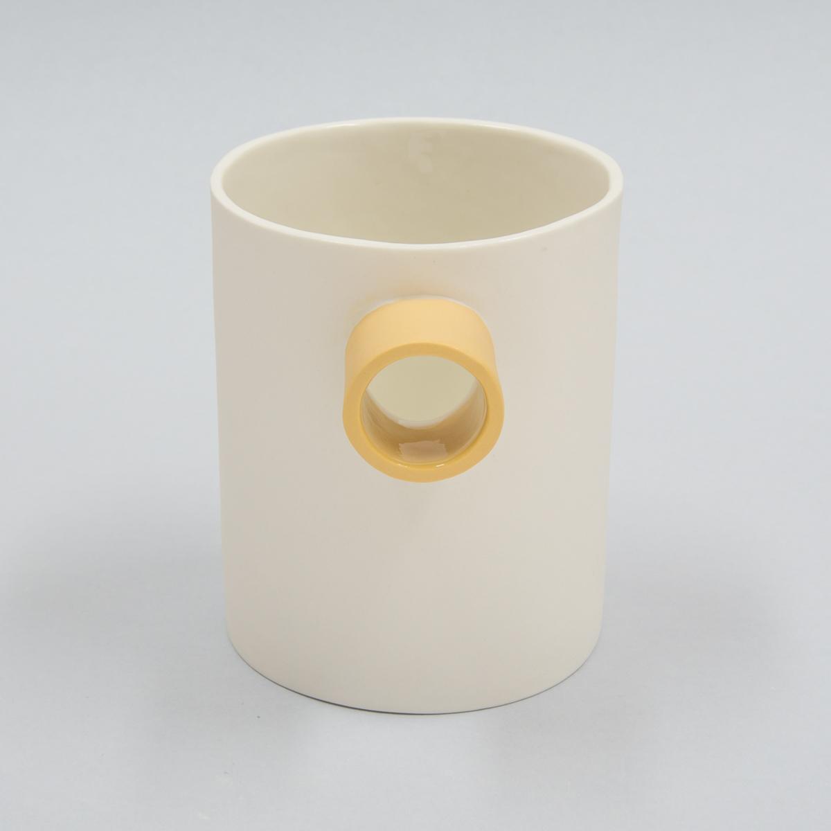 Carafe porcelaine bec jaune