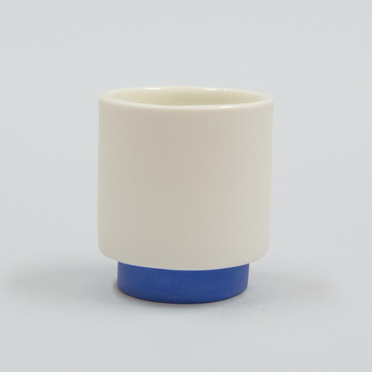 Tasse à café porcelaine bleue