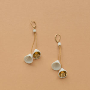 Boucles d'oreilles dormeuses Arom Duo Gold