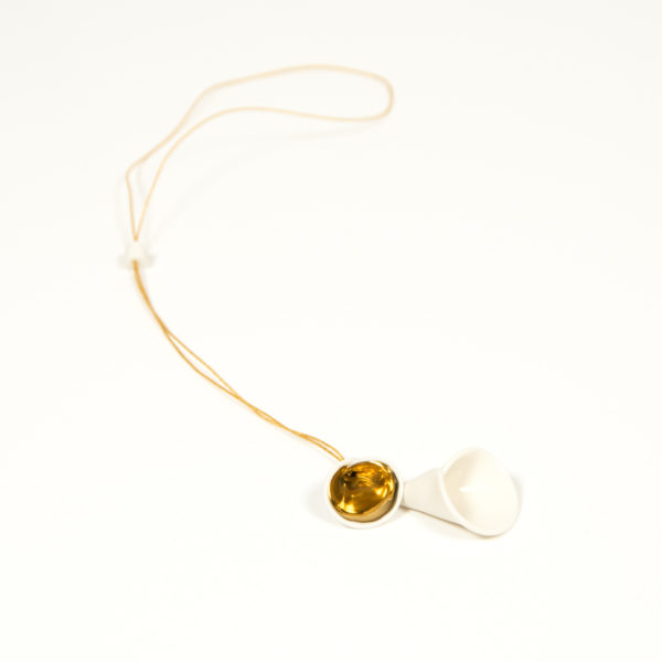 Sautoir Fleur Arom Duo Gold