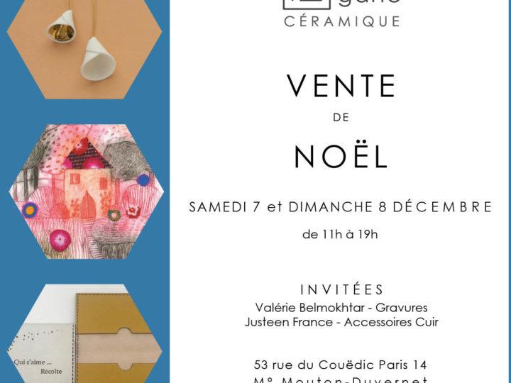 Vente de Noël à l'atelier | Paris | 7 et 8 décembre 2019