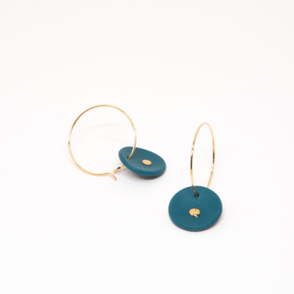 Vesna-Garic-boucles-oreilles-medaille-Vert-or-Lune